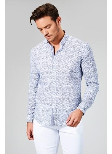 Desenli Uzun Kollu Gömlek-Avva